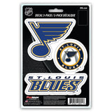 St. Louis Blues Decal Die Cut Team 3 Pack