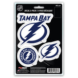 Tampa Bay Lightning Decal Die Cut Team 3 Pack