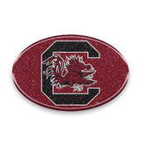 South Carolina Gamecocks Auto Emblem - Oval Color Bling