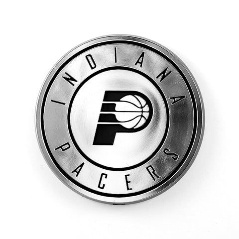 Indiana Pacers Auto Emblem Silver Chrome - Special Order
