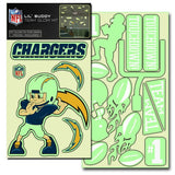 San Diego Chargers Decal Lil Buddy Glow in the Dark Kit