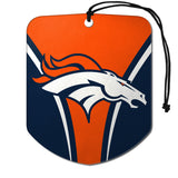 Denver Broncos Air Freshener Shield Design 2 Pack