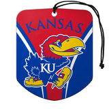 Kansas Jayhawks Air Freshener Shield Design 2 Pack