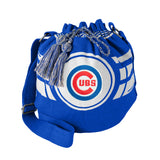 Chicago Cubs Bag Ripple Drawstring Bucket Style