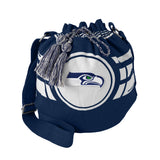 Seattle Seahawks Bag Ripple Drawstring Bucket Style