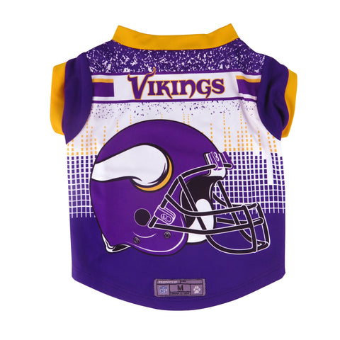 Minnesota Vikings Pet Performance Tee Shirt Size M
