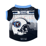 Tennessee Titans Pet Performance Tee Shirt Size M