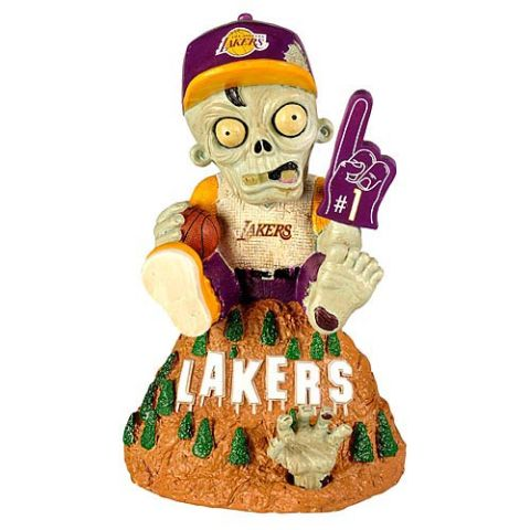 Los Angeles Lakers Zombie Figurine - On Logo