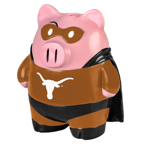 Texas Longhorns Piggy Bank - Large Stand Up Superhero