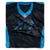 Carolina Panthers Blanket 50x60 Raschel Jersey Design
