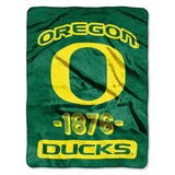 Oregon Ducks Blanket 46x60 Raschel Vasity Design Rolled