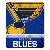 St. Louis Blues Blanket 50x60 Fleece Fade Away Design