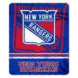 New York Rangers Blanket 50x60 Fleece Fade Away Design