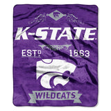 Kansas State Wildcats Blanket 50x60 Raschel Label Design