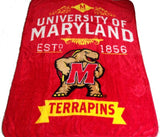 Maryland Terrapins Blanket 50x60 Raschel Label Design