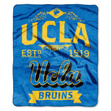 UCLA Bruins Blanket 50x60 Raschel Label Design