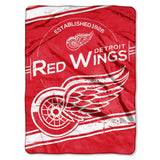 Detroit Red Wings Blanket 60x80 Raschel Stamp Design