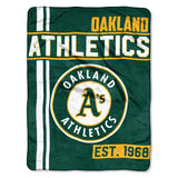 Oakland Athletics Blanket 46x60 Micro Raschel Walk Off Design Rolled - Special Order