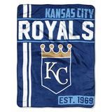 Kansas City Royals Blanket 46x60 Micro Raschel Walk Off Design