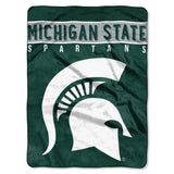 Michigan State Spartans Blanket 60x80 Raschel Basic Design