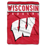 Wisconsin Badgers Blanket 60x80 Raschel Basic Design Special Order