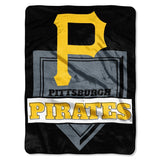 Pittsburgh Pirates Blanket 60x80 Raschel Home Plate Design Special Order