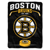 Boston Bruins Blanket 60x80 Raschel Inspired Design