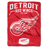 Detroit Red Wings Blanket 60x80 Raschel Inspired Design