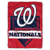 Washington Nationals Blanket 60x80 Raschel Home Plate Design