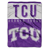 TCU Horned Frogs Blanket 60x80 Raschel Basic Design
