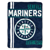 Seattle Mariners Blanket 46x60 Micro Raschel Walk Off Design Rolled Special Order
