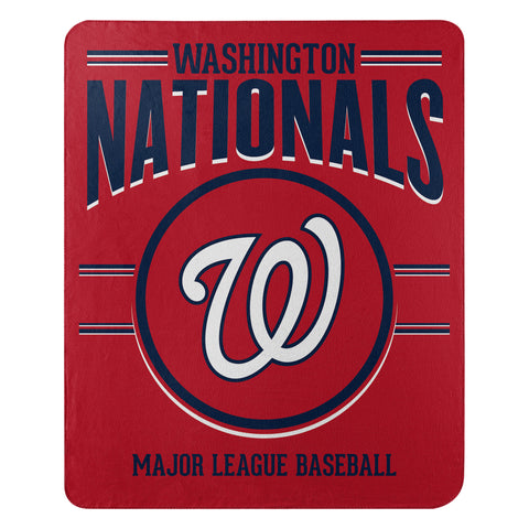 Washington Nationals Blanket 50x60 Fleece Southpaw Design Special Order
