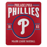 Philadelphia Phillies Blanket 50x60 Fleece Southpaw Design