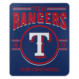 Texas Rangers Blanket 50x60 Fleece Southpaw Design Special Order