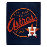 Houston Astros Blanket 50x60 Raschel Moonshot Design