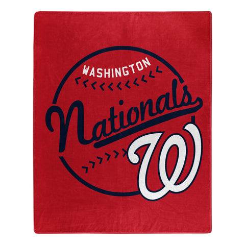 Washington Nationals Blanket 50x60 Raschel Moonshot Design