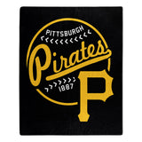 Pittsburgh Pirates Blanket 50x60 Raschel Moonshot Design Special Order