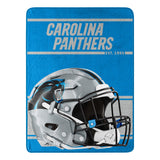 Carolina Panthers Blanket 46x60 Micro Raschel Run Design Rolled