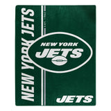 New York Jets Blanket 50x60 Raschel Restructure Design
