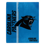 Carolina Panthers Blanket 50x60 Raschel Restructure Design