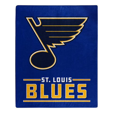 St. Louis Blues Blanket 50x60 Raschel Interference Design