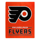 Philadelphia Flyers Blanket 50x60 Raschel Interference Design