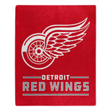 Detroit Red Wings Blanket 50x60 Raschel Interference Design