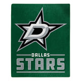 Dallas Stars Blanket 50x60 Raschel Interference Design - Special Order