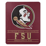 Florida State Seminoles Blanket 50x60 Fleece Control Design
