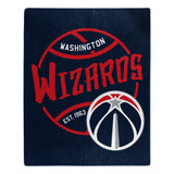 Washington Wizards Blanket 50x60 Raschel Blacktop Design - Special Order