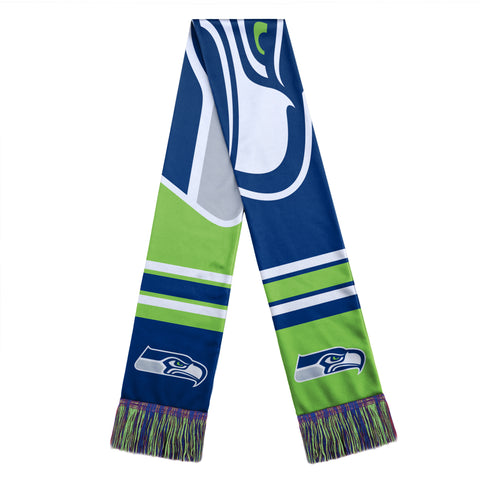 Seattle Seahawks Scarf Colorblock Big Logo Design