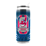 Cleveland Indians Thermo Can Stainless Steel 16.9oz Special Order