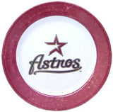 Houston Astros 4 Piece Dinner Plate Set