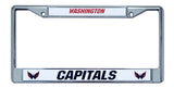 Washington Capitals License Plate Frame Chrome